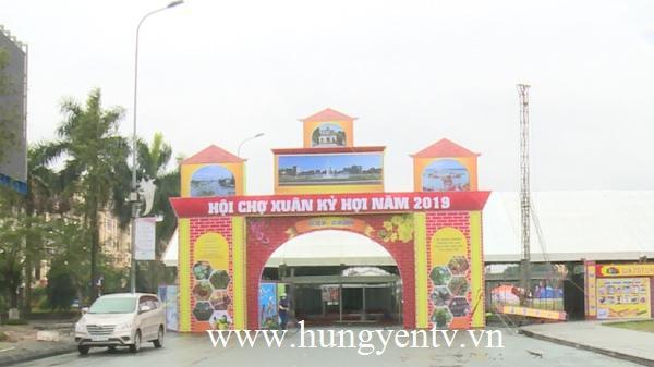 Hưng Yên: Khai mạc Hội chợ Xuân Kỷ Hợi 2019 thu hút hơn 200 gian hàng