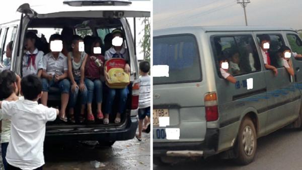 """Hưng Yên: Xe cũ nát """"tuồn"""" về làng quê chở học sinh, mỗi chuyến chở 30-40/học sinh"""