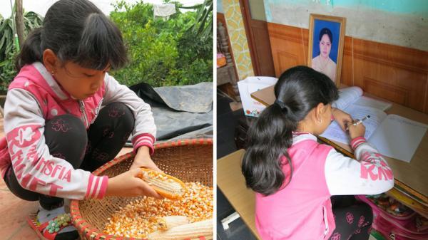 Xót lòng cảnh bé gái 12 tuổi ở Hưng Yên chỉ biết khóc nấc khi nhớ bố mẹ