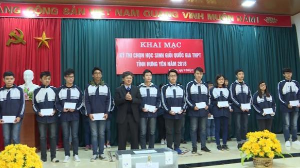 Hưng Yên có 69 học sinh dự kỳ thi chọn học sinh giỏi quốc gia THPT năm 2018