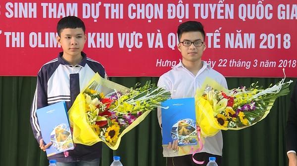 Hưng Yên có 2 học sinh thi chọn đội tuyển Olympic khu vực và quốc tế năm 2018