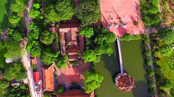 CHÙM ẢNH TỪ TRÊN CAO: Choáng ngợp trước ngôi chùa bề thế và có nhiều tượng đất cổ nhất Hưng Yên
