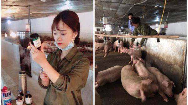 """""""Cô nàng chăn lợn"""" xinh đẹp như hot girl gây sốt cộng đồng mạng"""
