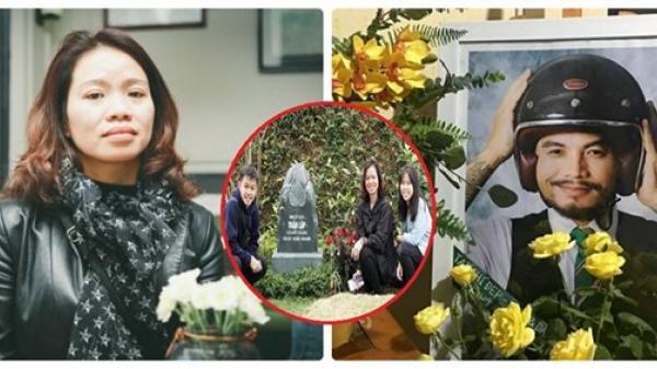 Ảnh vợ con Trần Lập bên mộ cố nghệ sĩ khiến nhiều người xúc động
