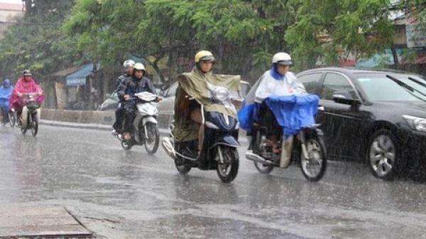 Cảnh báo mưa dông, lốc, sét, mưa đá ở Bắc Bộ, Trung Bộ và Tây Nguyên