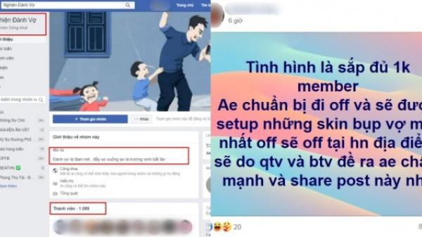 """Phẫn nộ vì 1000 thanh niên lập group """"Nghiện đánh vợ"""" trên FB để dạy nhau """"đi đường quyền"""" với vợ"""