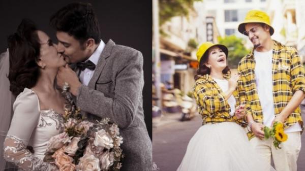 Mục sở thị bộ ảnh cưới của cô dâu 65 tuổi và chồng trẻ: Bức nào cũng đòi hôn để tạo dáng