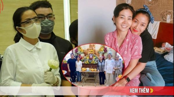 Bố mẹ Phùng Ngọc Huy đi chùa cầu siêu cho Mai Phương tròn 100 ngày mất