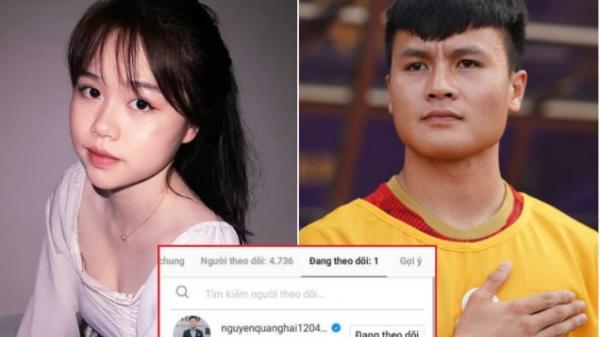 Bạn gái tin đồn một thời bỗng follow duy nhất Quang Hải, là động thái công khai hẹn hò ư?